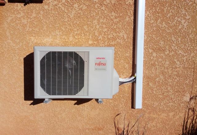 climatisation Atlantic fujitsu à cotignac, dans le var installation