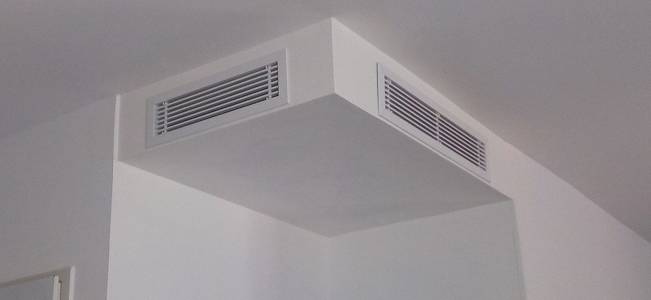 installation grille de soufflage gainable lg